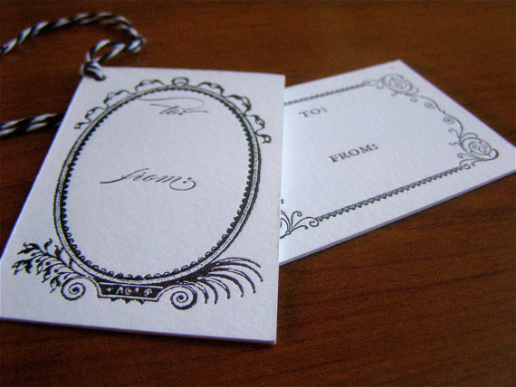 Black and white letterpress tags lg